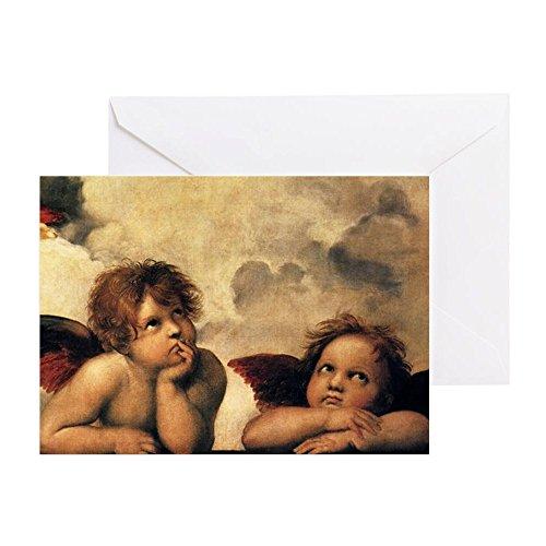 (CafePress Angels By Raphael, Vintage Renaissan Greeting Card, Note Card, Birthday Card, Blank Inside Matte)