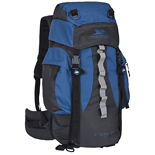 Trespass - Mochila de acampada / Hiking Modelo Trek 33 (33 litros) - Acampada / Camping Azul