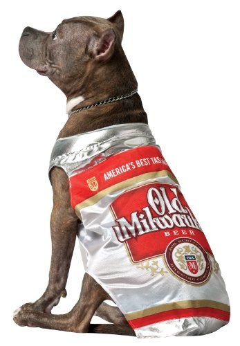 (Rasta Imposta Old Milwaukee Beer Can Dog Costume, Small )