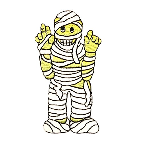 ID 0890 Mummy Costume Patch Halloween Kid Wraps Embroidered Iron On -