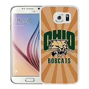 NCAA Ohio Bobcats 5 White Hard Shell Phone Case For Samsung Galaxy S6