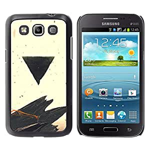 A-type Arte & diseño plástico duro Fundas Cover Cubre Hard Case Cover para Samsung Galaxy Win I8550 (Negro Triángulo)