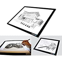LED Light Box with Tracing Paper Pad (2-Piece Set) A3 Drawing, Designing and Animation Tablet | Dimmable Lighting for Sketching Art, Tattoos, Photography