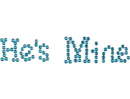 483e69ef7f Wedding Shoe Stickers Crystal Rhinestone Applique Blue Rhinestones Stickers  for Shoes for Bride (He's Mine, Blue)