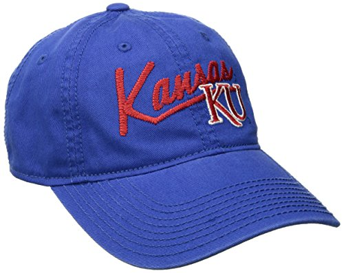 adidas NCAA Kansas Jayhawks Women's Adjustable Slouch, One Size, Royal