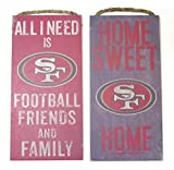 New Island 50 San Francisco 49ers Wall decor. 2 Wood plaque set, Friends and family and home sweet home football themes.