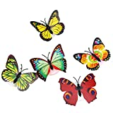 5Pcs Flashing Colorful Butterfly Night Light Baby Bedside Lights Indoor Lighting Decorations Party Christmas Nightl