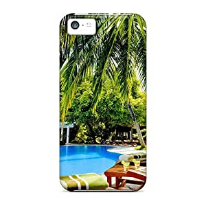 Ideal Shopfavor Case Cover For Iphone 5c(maldives Resort), Protective Stylish Case