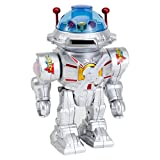 Bits and Pieces - Amazing Star Defender Robot-Robot Talks, Walks, Shoots Discs, Spinning and Flashing Toy - Defender Robot Measures 9-1/2'' tall x 6-3/4'' wide x 5'' deep