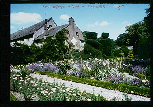 Vintage photo of Topiary and Parterre at Levens Hall Garden.