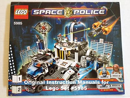 Amazon Instruction Manuals For Lego Space Police Set 5985