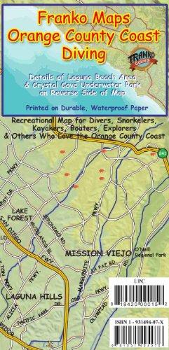Orange County California Dive Guide Franko Maps Waterproof Map