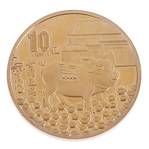 (Non-currency Coins - 2019 China 10 Yuan Bi Metal Unc Original Chinese Coins Collectibles Year Gift Of The Pig Zodiac - Zodiac Coin Of Souvenir Silver 10 Coin Set Pig Of 100 Souvenir Coin Co)