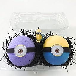 Bath Bomb Gift Set–2 MINION Surprise Bombs XL 6.5 oz each-The Island Bath & Body-Made In USA- Shea & Cocoa Butter