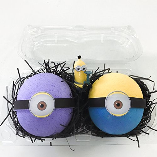 Price comparison product image Bath Bomb Gift Set–2 MINION Surprise Bombs XL 6.5 oz each-The Island Bath & Body-Made In USA- Shea & Cocoa Butter