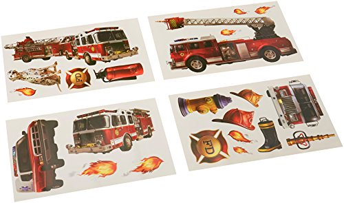 RoomMates Fire Brigade Peel and Stick Wall Decals