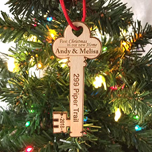 (First Christmas in Our New Home Key w/address 2018 - Christmas Ornament)