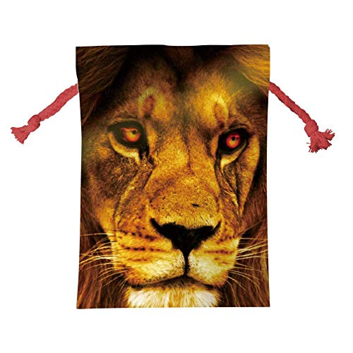 Qujki Drawstring Christmas Bag Lion-Wild-Africa-African Gift Bags Santa Sack Christmas Wedding Party