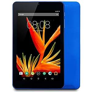 Alldaymall Tablet with 64 bits Quad Core CPU, 7'' HD 1920x1200 IPS Display, Android 5.1 Lollipop, 1GB RAM 16GB Flash, Wi-Fi, Bluetooth, Dual Camera - Blue