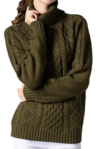 Manica Manica Manica con Lunga Bianca Lunghe Maglione da da da a Dimensione Maniche Collo a Pullover Donna Colore Amy ZHRUI a L qwzfIf