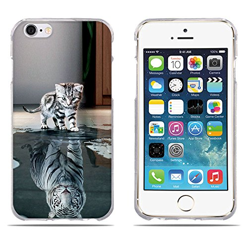 Funda Carcasa para iPhone 6/6s, Carcasa de Silicona Transparente TPU, FUBAODA, Dibujo con Estilo[Beber Gato] Carcasa Protectora de Goma de Altisima Calidad para iPhone 6/6s pic:12