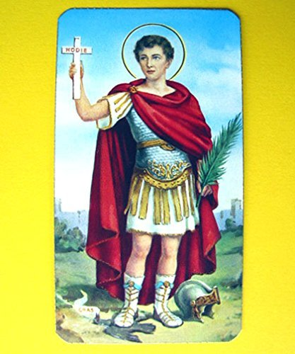 SAN Expedito Saint St. Expeditus Italy Holy Card Prayer Republic of Molossia