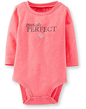 Carters Baby Girl Pink Practically Perfect Bodysuit - 3 Months