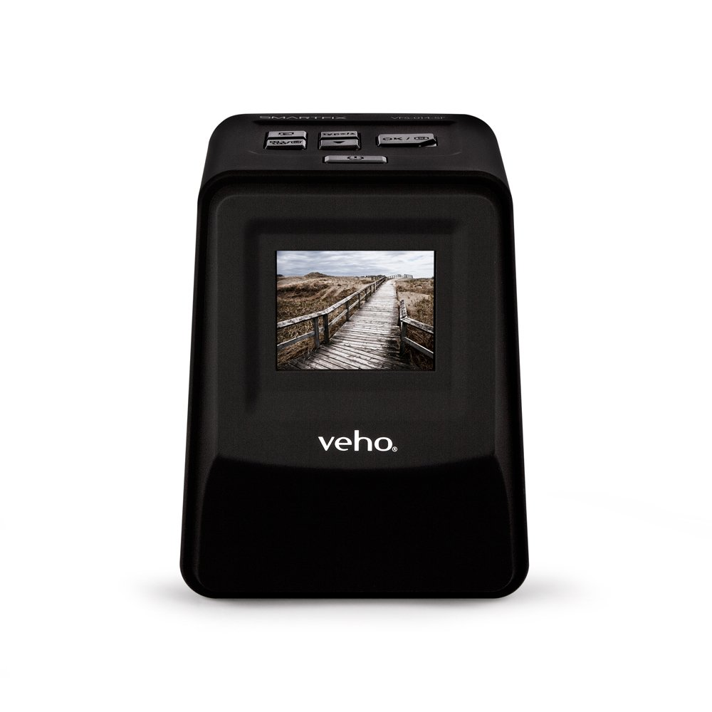 "Veho Smartfix Portable Stand Alone 14 Megapixel Negative Film & Slide Scanner with 2.4"" Digital Screen and 135 Slider Tray for 135/110/126 Negatives Compatible with Mac/PC – Black (VFS-014-SF)"