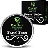 Beard Balm Leave-in Conditioner - All Natural Beard Oil for Beard Mustache Growth - Soothes Softens Tames & Styles Hair - Best Gift for Men Premium Nature