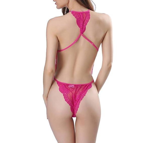 Mujeres de la manera ropa interior atractiva del cordón de Racy Spice Suit Tentación ropa interior siamesa lenceria sexy mujer☆Longra: Amazon.es: ...