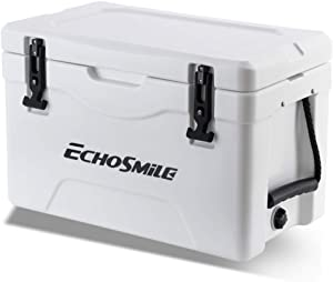 EchoSmile 25/30/35/40/75 Quart Rotomolded Cooler, 5 Days Protale Ice Cooler, Ice Chest Suit for BBQ, Camping, Pincnic, and Other Outdoor Activities