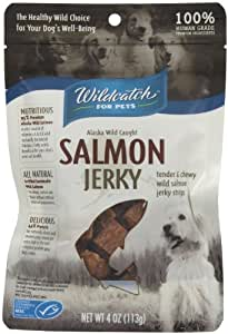 WildCatch for Pets 1.5-Inch by 1.5-Inch Salmon Jerky for Dogs, 4-Ounce