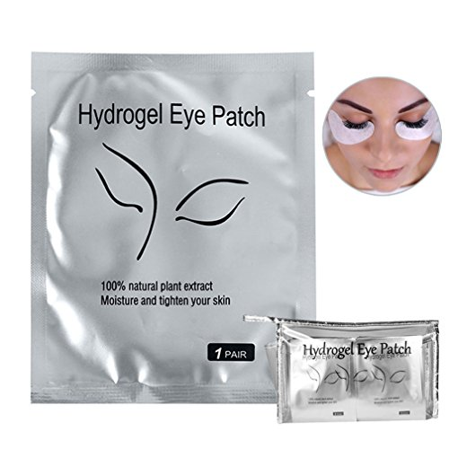 - 110 Pairs Eyelash Extension Gel Patches Kit, Lash Extension Lint Free Under Hydrogel Eye Mask Pads Beauty Tool with Transparent Cosmetic Bag