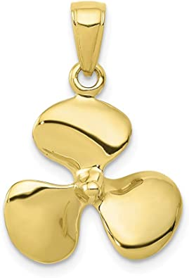 Charms for Bracelets and Necklaces 10k Yellow Gold Propeller Charm