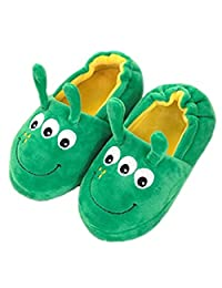 Little Kids Cartoon Slippers Toddler Girls Boys Cute Bunny Rabbit/Dog Animal Winter Warm Plush Slip-on Indoor Slippers Soft Cozy Fuzzy Fleece Non-slip Home Bedroom Booties House Shoes Lightweight Thermal Snow Ankle Boots Mules, Nice Xmas Present for Child