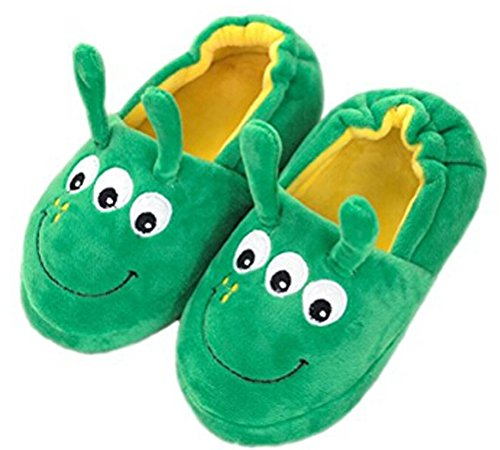 Little Kids Cartoon Slippers Toddler Girls Boys Cute Bunny Rabbit/Dog Animal Winter Warm Plush Slip-on Indoor Slippers Soft Cozy Fuzzy Fleece Non-slip Home Bedroom Shoes Snow Ankle Boots Mules Green