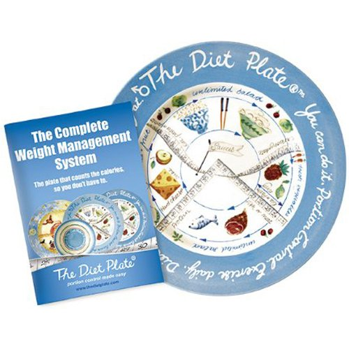The Diet Plate® Male Version for Portion Control made from Fine English Earthenware, Microwave and Dishwasher friendly ()