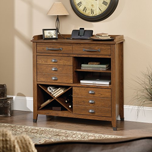 Sauder 414783 Carson Forge Sideboard, L 40.71 x W 16.65 x H 40.55 , Washington Cherry finish