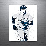 Aaron Judge Gray New York Yankees, Sports Art Print, Baseball Poster, Kids Decor, Watercolor Contemporary Abstract Drawing Print, Man Cave