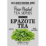 Epazote Tea - Pure Herbal Tea Series by Palm Beach Medicinal Herbs (30 Tea Bags) 100% Natural