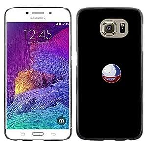 KLONGSHOP // Cubierta de piel con cierre a presión Shell trasero duro de goma Protección Caso - P0Keball P0kemon - Samsung Galaxy S6 //