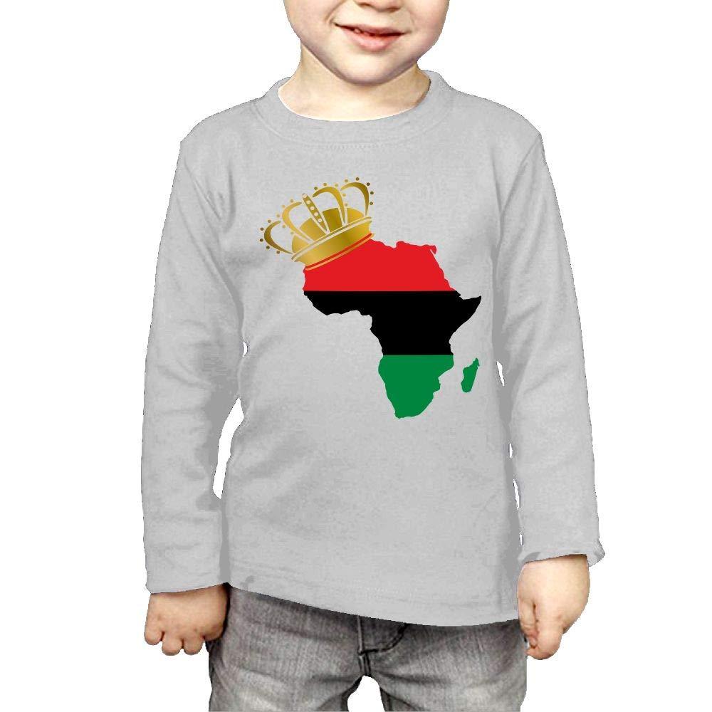 Fryhyu8 Baby Girls Childrens African American Pride Printed Long Sleeve 100/% Cotton Infants Tops
