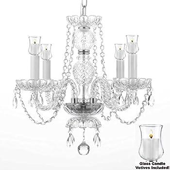 Crystal chandelier lighting chandeliers w candle votives h25 w crystal chandelier lighting chandeliers w candle votives h 17 x w 17 for mozeypictures Choice Image