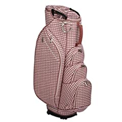 OUUL CHECKWAVE CART BAG WOMEN Ouul Check Wave 14-way Cart Bag features technically advanced embroidered and fashion forward check wave pattern fabric design. The 9'' 14-way top with multi-handle design and seven pockets are exactly positioned...