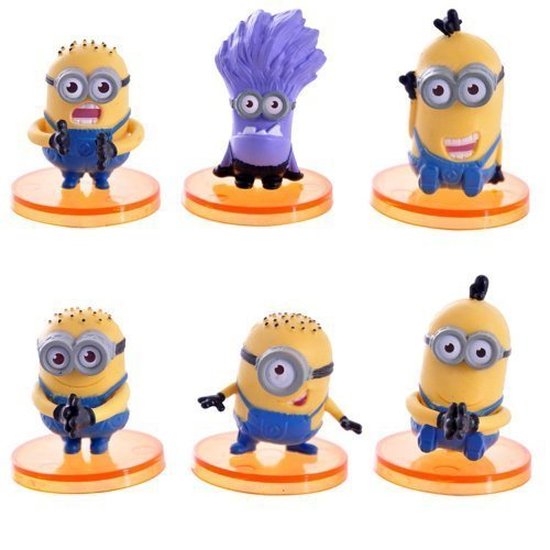 Despicable Me 2 The Minions Role Figure Display Toy PVC 6Pcs Set 4cm/1.6 Tall by Gold-Leaf