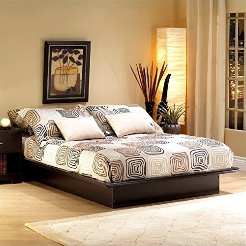South Shore Step One Platform Bed with Storage, Full 54-Inch, Chocolate - bedroomdesign.us