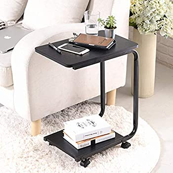 Outstanding Hobbyn End Table Mobile End Table For Coffee Laptop Tablet Slides Next To Sofa Couch Wood Look Accent Furniture With Metal Frame And Rolling Casters Uwap Interior Chair Design Uwaporg