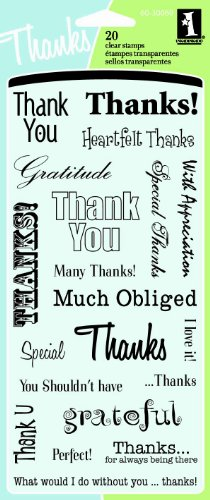 Inkadinkado Thank You Words Clear - Acrylic Clear Sentiments Stamps