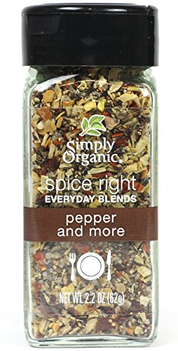 (Simply Organic Spice Right Everyday Seasoning Blends, Pepper and More, 2.2 Ounce)