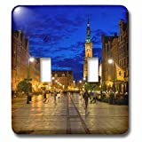 3dRose Danita Delimont - Poland - Poland, Gdansk. Plaza for walking and dining. - Light Switch Covers - double toggle switch (lsp_249362_2)